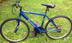 MTB hardly used,has mongoose quick relase wheels and