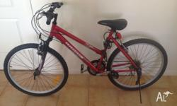 Selling a red, men's mountain bike in great condition,