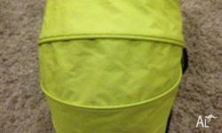 Lime Green Bassinet for Mountain Buggy Shift. In great