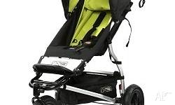 Mountain Buggy Swift in black/lime with a black