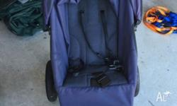 Navy Mountain Buggy Urban single pram. Used for 18