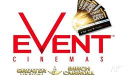 Movie Tickets eVoucher - Event, Greater Union, Birch