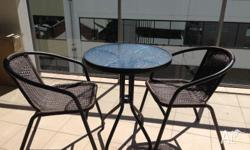 Great 3pc Outdoor Dining Set for only $20. Used for 1