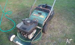 4 Stroke mower well used. needs throttle cable, Blades