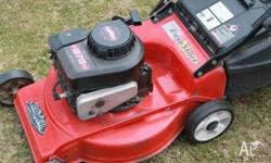Am selling a Rover mower with a Briggs and Stratton 4