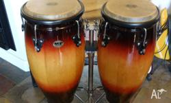 Well looked after pair of congas played by 12 yrs old