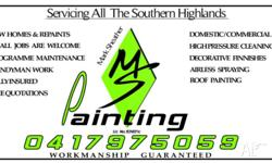- MS PAINTING SERVICES 0417975059 Hours of Operation: