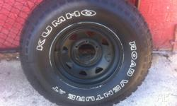 Kumho tyres 31/10.50 R 15 about 60 % tread on them make