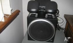 Multi media speaker, Logitech brand. Good sound system.