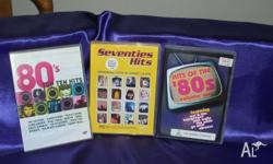 FOR SALE THREE MUSIC DVD's HITS OF THE 80s VOLUME ONE