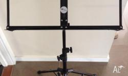 Metal black music stand, as new (used only a couple of