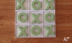 Giant Wooden O & X's Set New never been played 30cm by