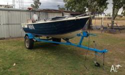 Hi selling 3.9 mt stacer tinnie with 25 hp mariner