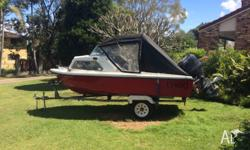 15ft, 75hp mercury not running, comes with good