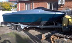 Mustang boat for sale. With inboard Mercruiser V8