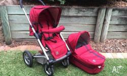 Mutsy Sports pram combo - basinette, seat and rocker -