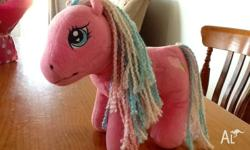 Pink My Little Pony soft toy for sale. My child has