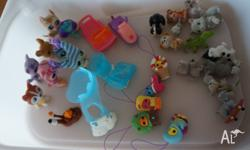 A variety of my littlest pet shop animals and