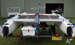 For sale here is this Nacra 5.8 Catamaran it is in