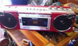 Twin speaker radio/tape player in good condition.
