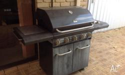 Great BBQ, set up for natural gas. 5 burner with side