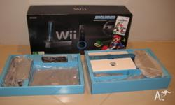 Have a near new black Wii console. It has been plugged