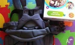 Easy-on infant carrier only used two times with back