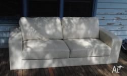 White leather couch for sale. Excellent condition