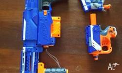 A total of 12 NERF guns ranging from pistol to long