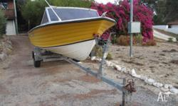 HULL (FIBERGLASS) & TRAILER IN SUPERB CONDITION VERY