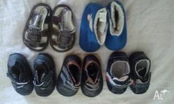 New born shoes for sale-boys shoes sice 2 ,5 pair ,