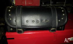new condition motorcycle black leather tool bag with