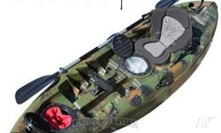 new fishing single kayak without paddle, but with