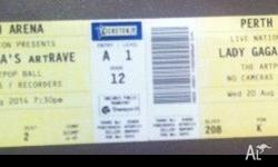 Hi, I have two tickets for Lady Gaga's ArtRAVE Concert