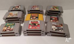 ***HOT GAMES**** * Mario Kart 64 $75 * Goldeneye - $60
