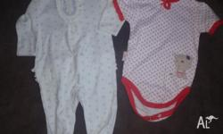 Both NEW..Cute long and short sleeve baby suits...long