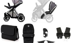 NEW Oyster Max Slate Grey Stroller pram & second twin
