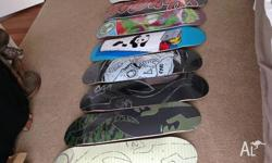 I have a bunch of skateboard stuff for sale,