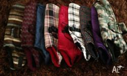 26x tartan and fleece jackets $5 each - SOLD 4 - 22