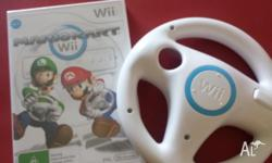 New Wii MarioKart game (packaging intack) and Wii