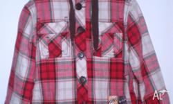 100% cotton button up lined jeket