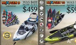 ***** NEXTGEN 9 KAYAKS ***** To order call