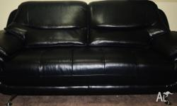 1. 2 x Australian Made 2.5 seater Sofa 2. 100% Leather