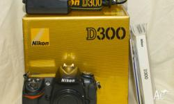 This Nikon D300 pro-dx body is in very good condition.