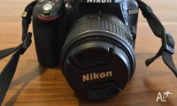 Nikon D3300 24MP DSLR Camera and Nikon AF-S DX