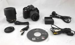Nikon D5000 DSLR Camera With 18-55mm lens 55-200mm