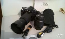 I bought it, with the 2 lenses, new in 2011. 2 Filters