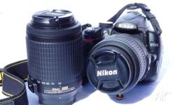 Nikon DSLR D5000 complete with two lenses: 1 x 18 -