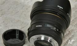 Nikon mount [sigma] 50mm f,1.4 lens DG HSM EX with caps