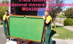- House move - Office move - Piano movers - Pool table